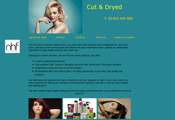 Cut & Dryed Hair Salon, Pontypridd