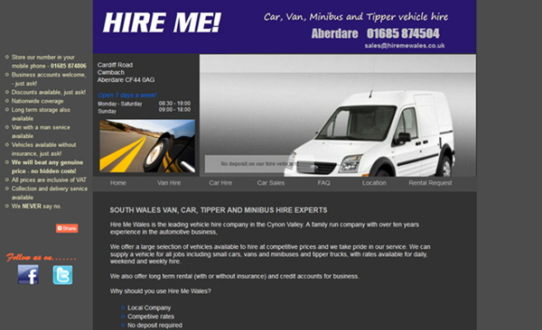 Hire Me Wales, Aberdare and Merthyr