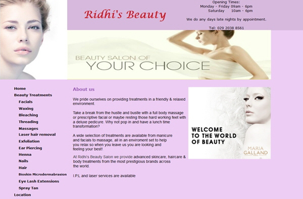 Ridhis Beauty, Cardiff